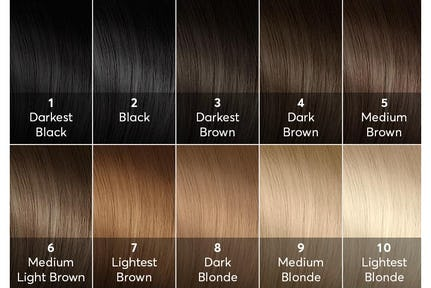 Shades Of Brown Hair Color Chart Beautiful Blonde For Dye Light Colors