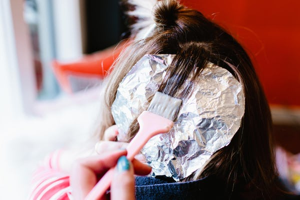 Foil with brush and hair