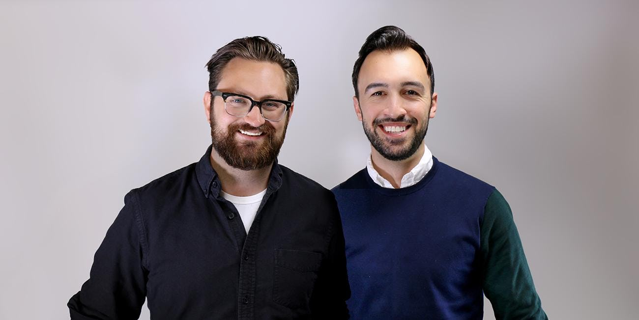 two men with beards