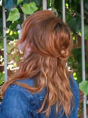 half knot hair style