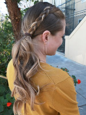 mermaid braid hair style