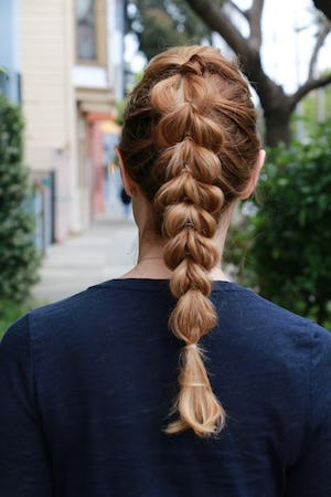pull out braid hairstyle