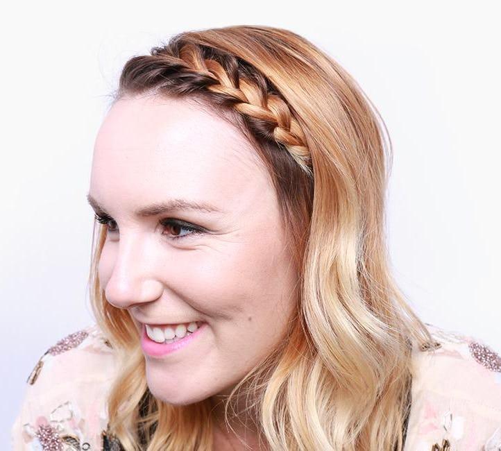 hair bangs - french braid