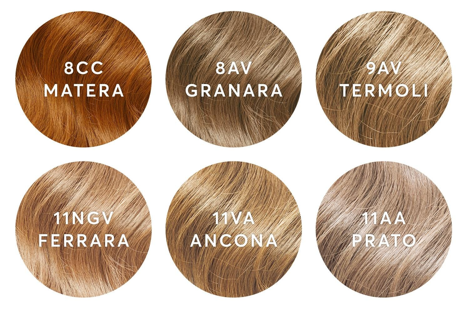 Blonde color swatches