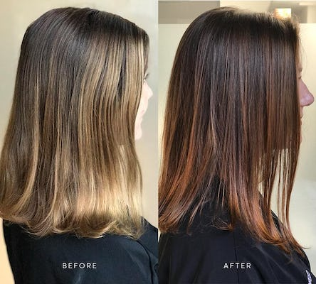 madison reed hair gloss before and after