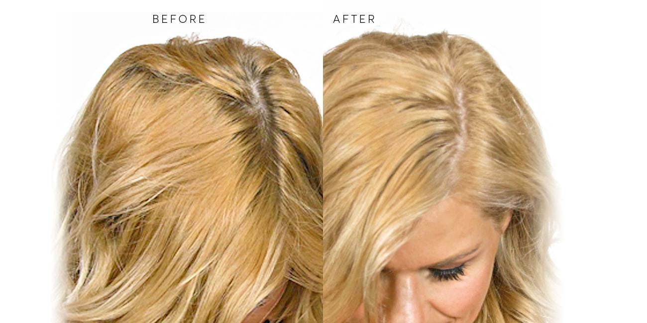 blonde hair with superior gray coverage