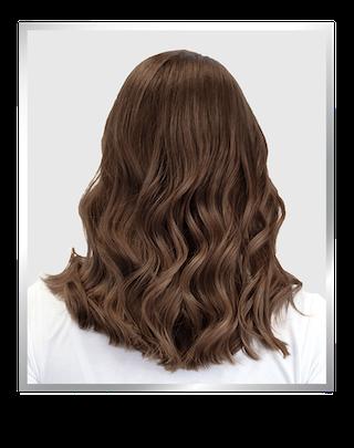 hair model before highlights
