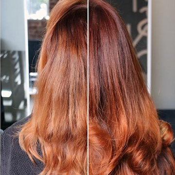 at home hair color before and after