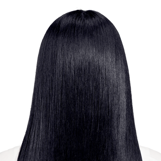 Perugia Black - Sapphire black hair color with hints of blue.