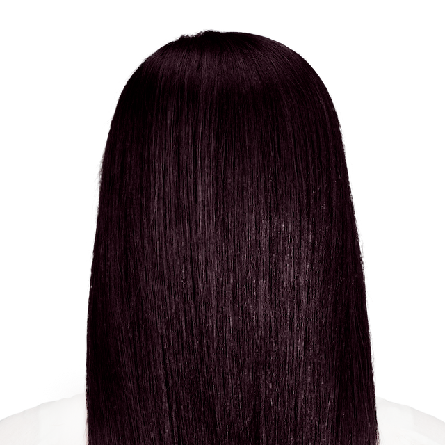 Palermo Black - Rich black hair color with hints of aubergine.