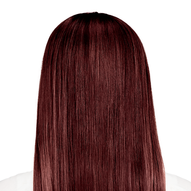 Rimini Garnet - Vibrant red hair color with hints of aubergine