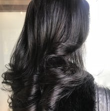 Stunning black hair color
