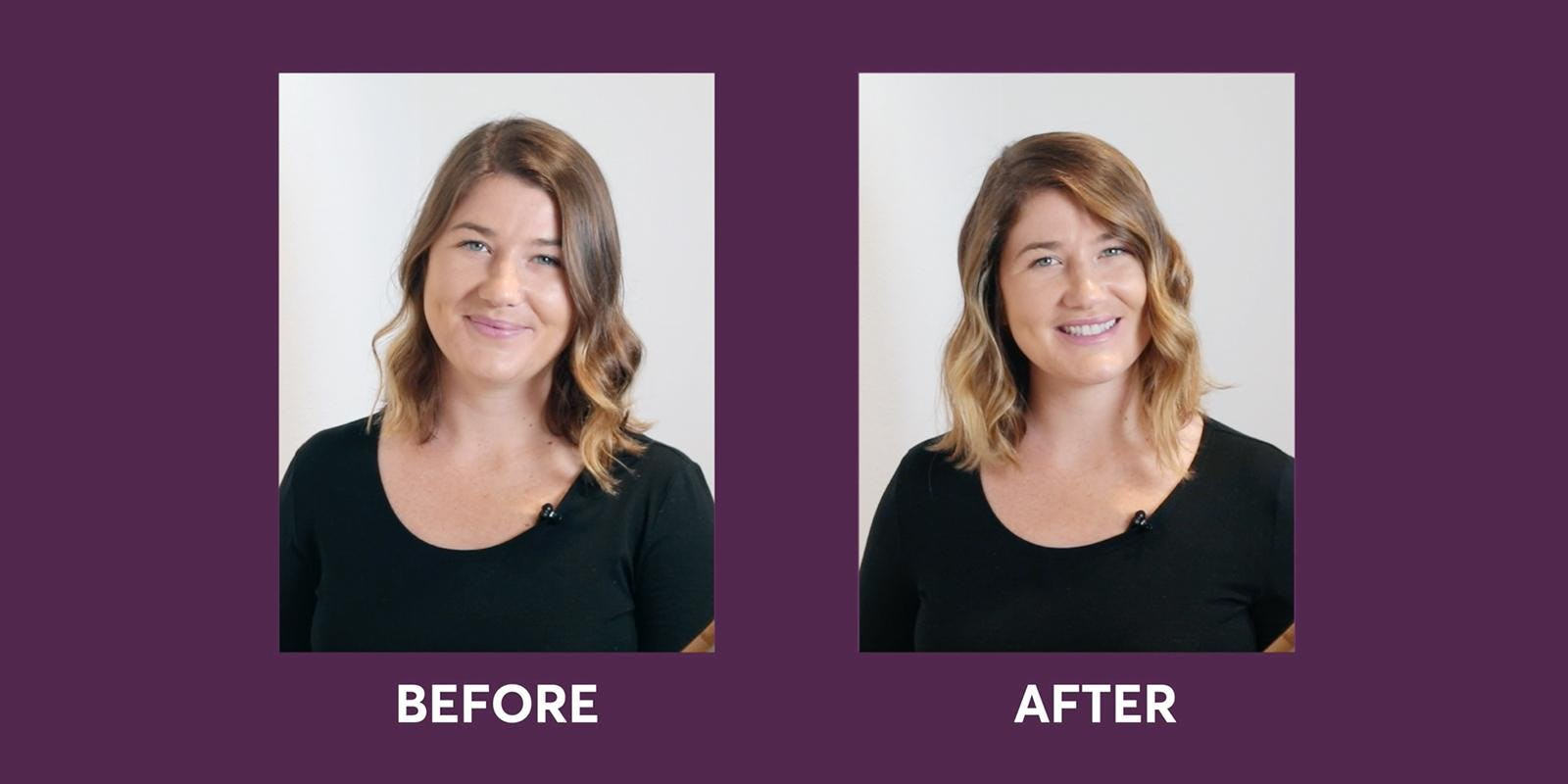 hair lightener before and after