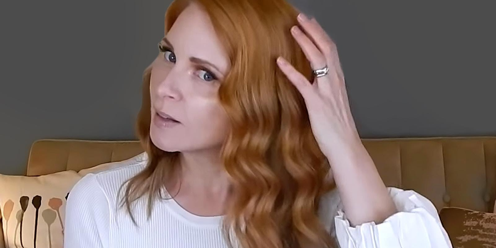 golden copper blonde hair