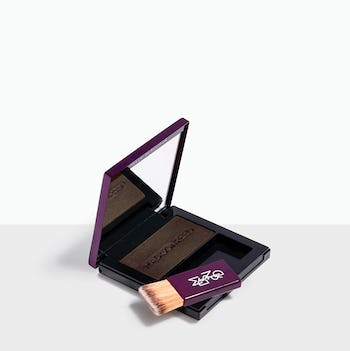 Ombra - Dark Brown brush-on powder conceals roots quickly & easily