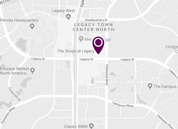 Map of the Color Bar in Plano at The Shops at Legacy