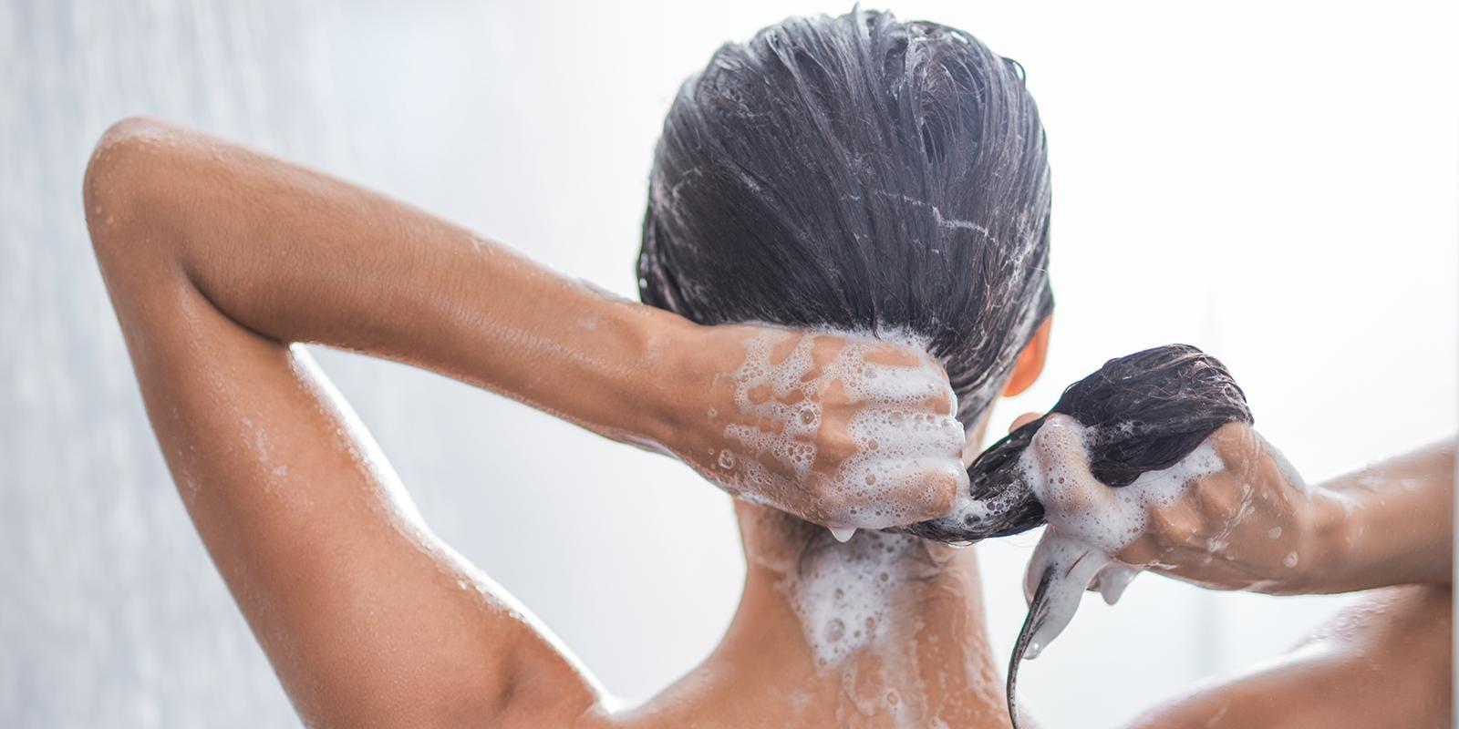 low suds shampoo in shower