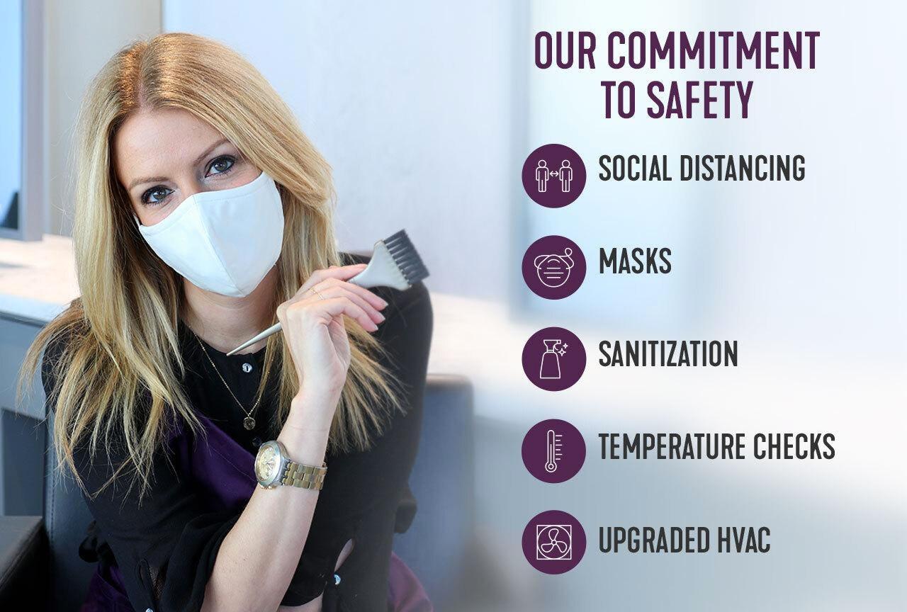 Hair Color Salon Safety Madison Reed - Social Distancing, Masks, Sanization, Temperature Checks, Upgraded HVAC