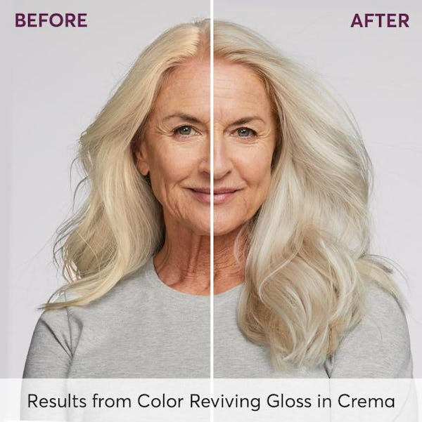 Before and After Results from Color Reviving Gloss in Crema